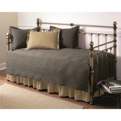 Trellis Gray Revman International 202893 Stone Cottage 5-Piece Daybed Cover Set