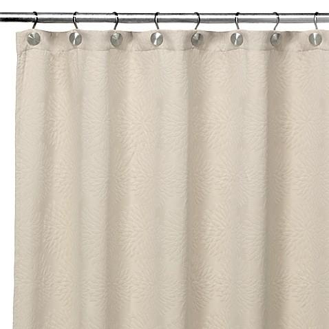Dkny Chrysanthemum Ivory Fabric Shower Curtain Bed Bath