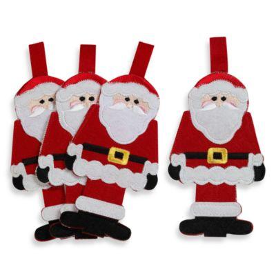 Santa Claus Utensil Holder (Set of 4)