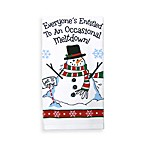 Everyone's Entitled to an Occasional Meltdown Snowman Print Kitchen Towel