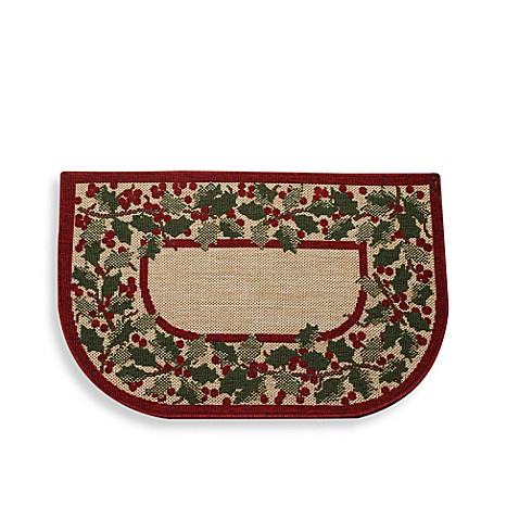 Holly Berry Slice Kitchen Rug