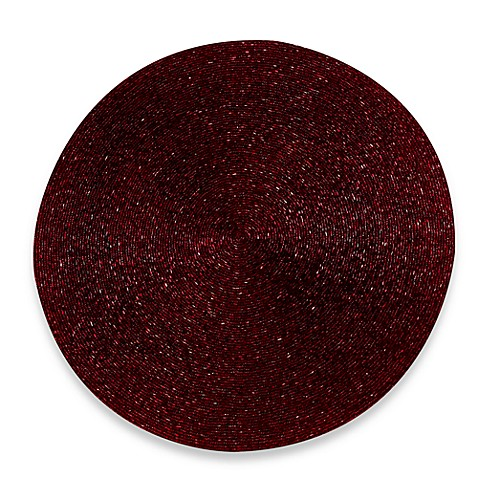 Burgundy Beaded Round Placemat Bed Bath Amp Beyond