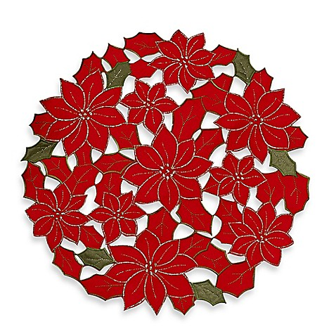 Buy Sam Hedaya Poinsettia Cluster Placemat From Bed Bath