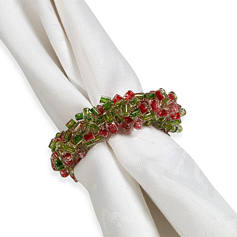 Bead Bunch Holiday Napkin Rings Set Of 4 Bed Bath Amp Beyond