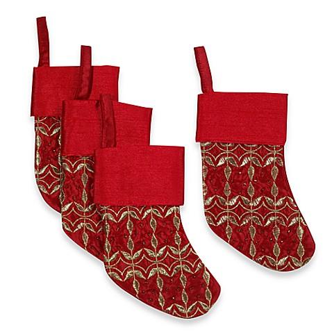 red beaded stocking utensil holders set of 4 bed bath. Black Bedroom Furniture Sets. Home Design Ideas