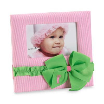 "Mud Pie™ Initial ""I"" Bow Frame in Pink"