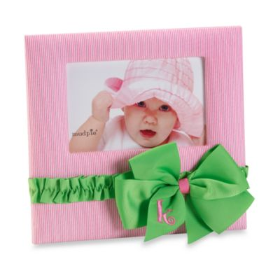 "Mud Pie™ Initial Letter ""K"" Bow Frame in Pink"