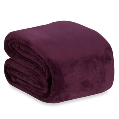 Berkshire Blanket® Indulgence Full/Queen Blanket in Purple