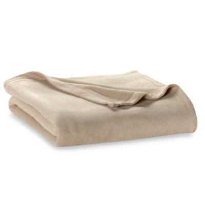 Berkshire Blanket® Original Full/Queen Fleece Blanket in Linen