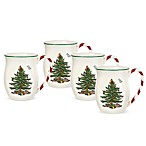Spode® Christmas Tree with Candy Cane Handle Mugs (Set of 4)