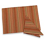 Autumn Stripe Placemat and Napkins