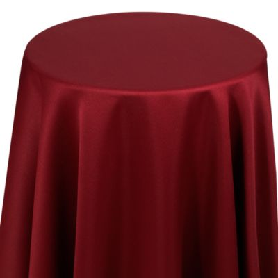 Dover 70-Inch Round Table Topper in Bordeaux