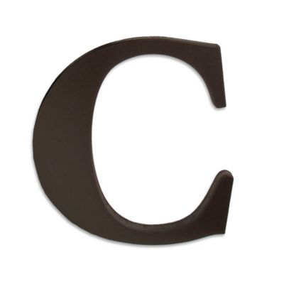 """kidsline™ Espresso Wooden Letter """"C"""""""