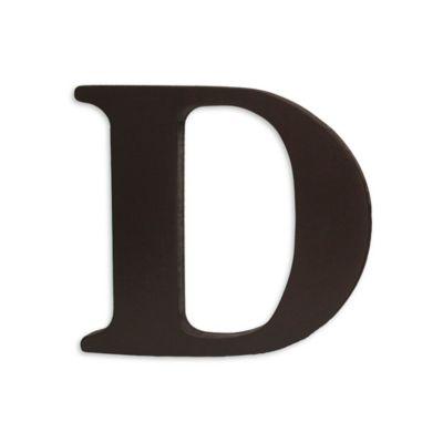 """kidsline™ Espresso Wooden Letter """"D"""""""