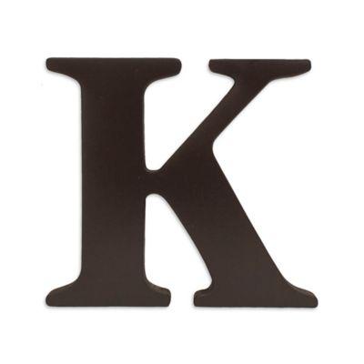 """kidsline™ Espresso Wooden Letter """"K"""""""