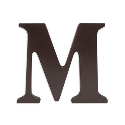 """kidsline™ Espresso Wooden Letter """"M"""""""