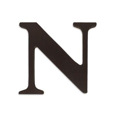 """kidsline™ Espresso Wooden Letter """"N"""""""
