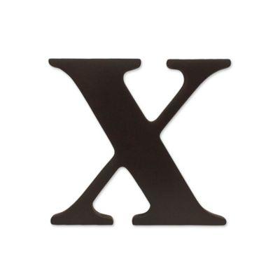 "kidsline™ Espresso Wooden Letter ""X"""