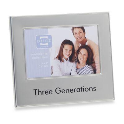 Three Generations 4-Inch x 6-Inch Metal Frame