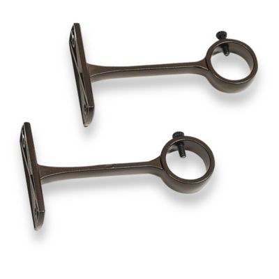 Outdoor Bronze Decorative Mounting Brackets (Set of 2)