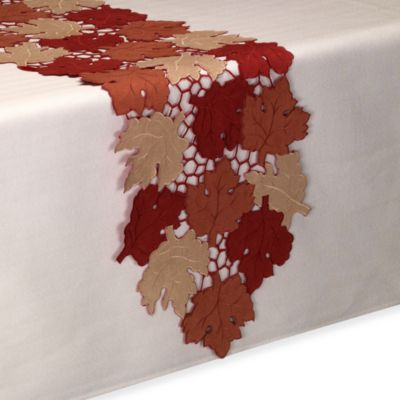Scattered Leaves 70-Inch Table Runner