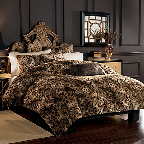 Lynx Faux Fur Duvet Cover Set Bed Bath Amp Beyond