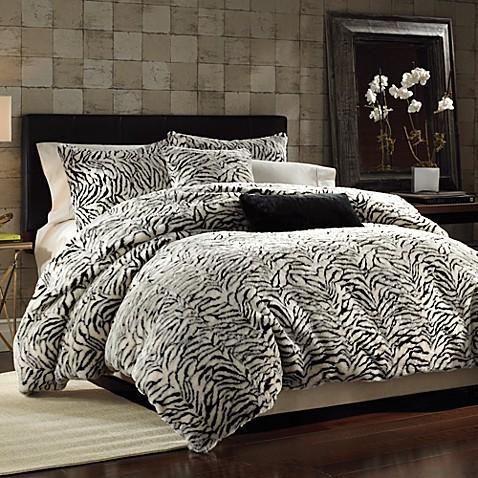 White Tiger Faux Fur Duvet Cover Set Bed Bath Amp Beyond
