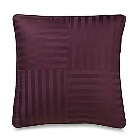 Wamsutta® Damask Stripe Purple European Pillow