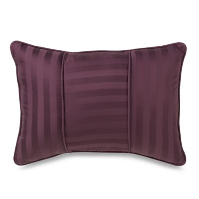 Wamsutta® Damask Stripe Purple Breakfast Pillow