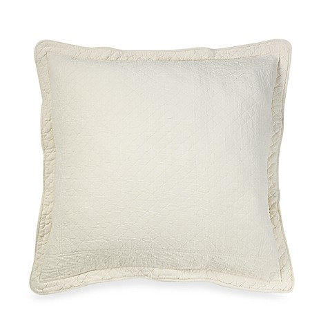 Williamsburg William and Mary Matelasse European Sham in Bone