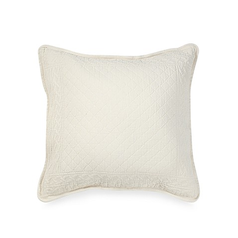 Williamsburg William and Mary Matelasse 18-Inch Square Decorative Pillow in Bone