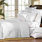 William and Mary White Matelasse Bedspread, 100% Cotton
