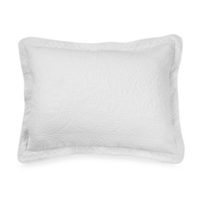 William and Mary Matelasse King Sham in White