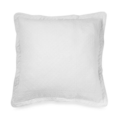 William and Mary Matelasse European Sham in White