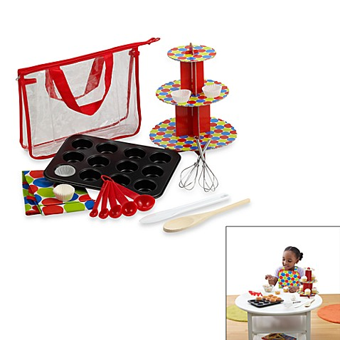 children 39 s cupcake baking set bed bath beyond. Black Bedroom Furniture Sets. Home Design Ideas
