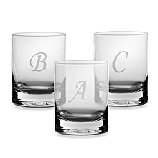 Mikasa Monogrammed 14-Ounce Double Old Fashioned Glasses