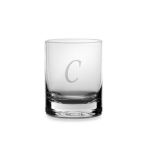 Mikasa® Monogrammed 14-Ounce Double Old Fashioned Glasses (Set of 4) - C
