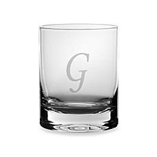 Mikasa® Monogrammed 14-Ounce Double Old Fashioned Glasses (Set of 4) - G
