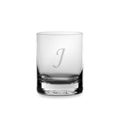 "Mikasa® Monogrammed Letter ""I"" 14-Ounce Double Old Fashioned Glasses (Set of 4)"