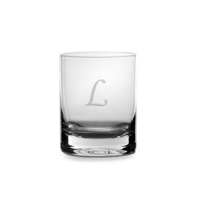 "Mikasa® 14-Ounce Monogrammed Letter ""L"" Double Old Fashioned Glasses (Set of 4)"