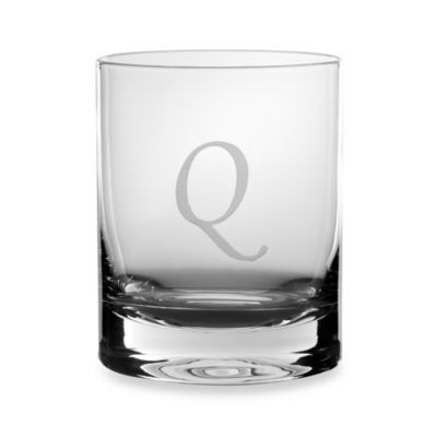 "Mikasa® 14-Ounce Monogrammed Letter ""Q"" Double Old Fashioned Glasses (Set of 4)"