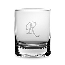 Mikasa® Monogrammed 14-Ounce Double Old Fashioned Glasses (Set of 4) - R