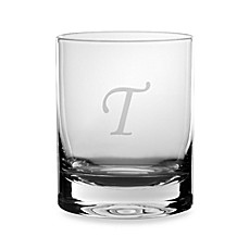 Mikasa® Monogrammed 14-Ounce Double Old Fashioned Glasses (Set of 4) - T