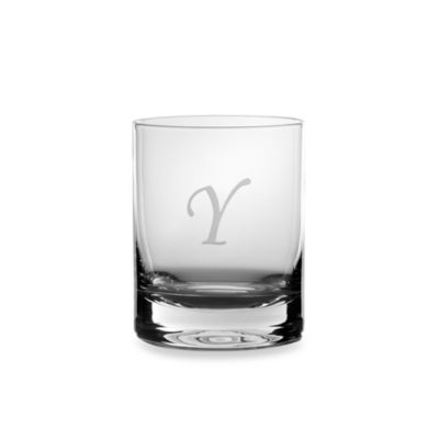"Mikasa® 14-Ounce Monogrammed Letter ""Y"" Double Old Fashioned Glasses (Set of 4)"