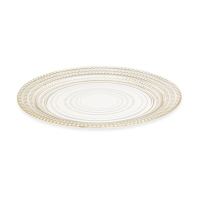 Gilded Dots Gold Leaf 11-Inch Dinner Plate