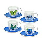 Vera™ Papillion Dream Cups and Saucers (Set of 4)