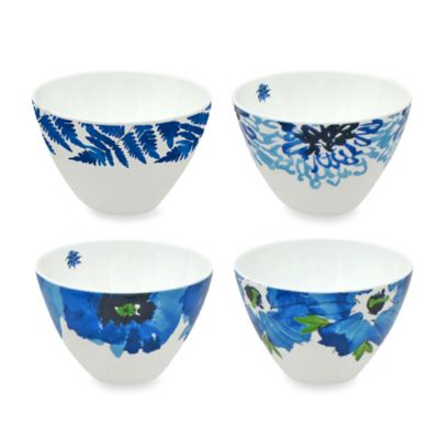 Vera™ Indigo Garden 4-Inch Mini Bowls (Set of 4)