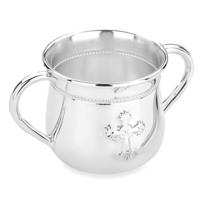 Reed & Barton® Abbey Cross Two-Handled Baby Cup