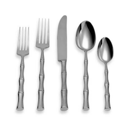 Michael Lloyd Bamboo Flatware 5-Piece Place Setting