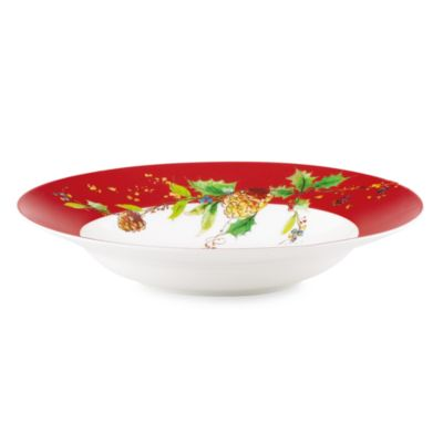 Lenox® Winter Song 24-Ounce Rim Pasta Bowl